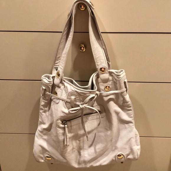 e04c435df419 Gustto Handbags - Gustto Parina White Leather Tote